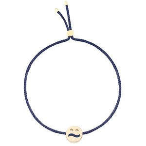 Ruifier Friends Ditzy Cord Bracelet Navy Yellow Gold