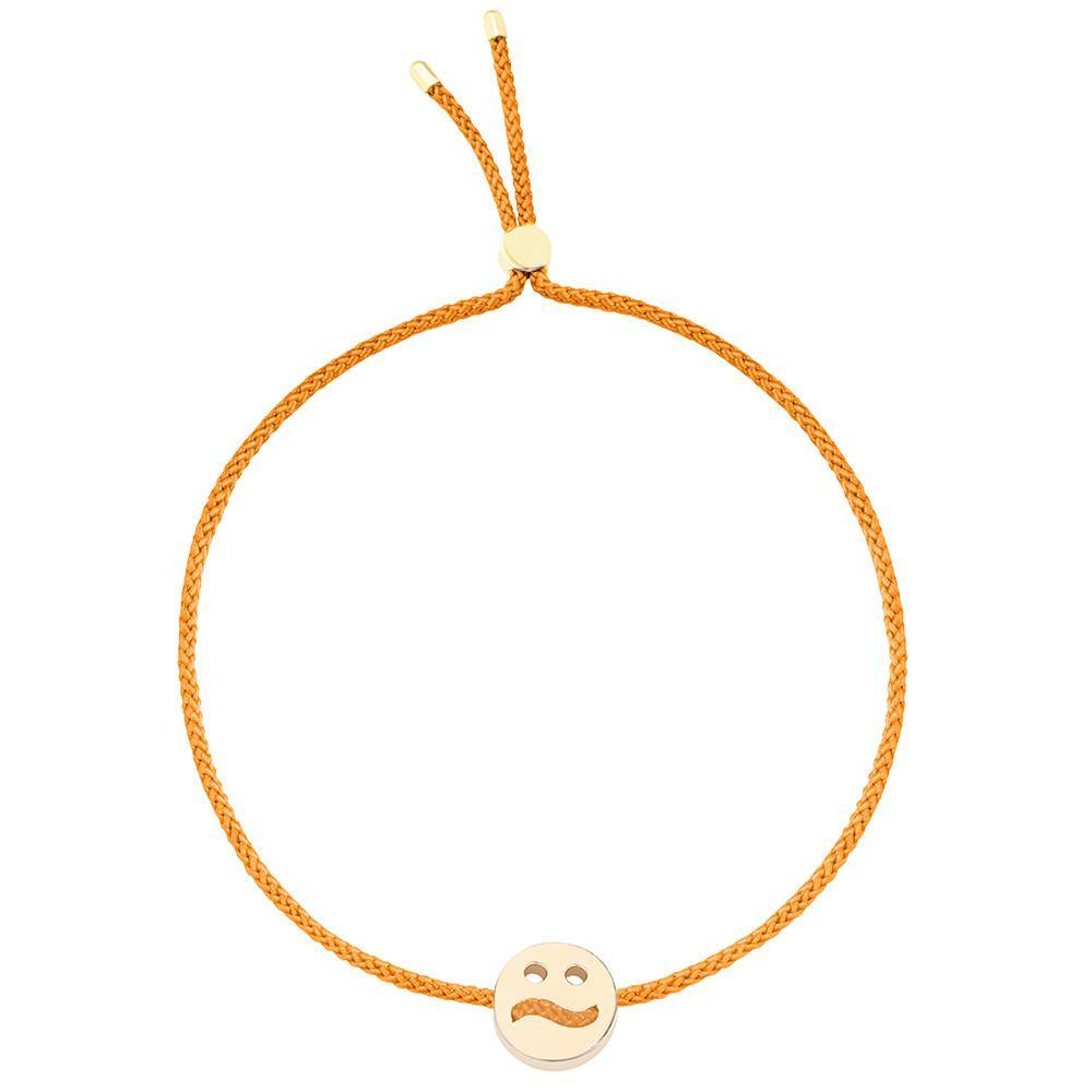 Ruifier Friends Ditzy Cord Bracelet Orange Yellow Gold