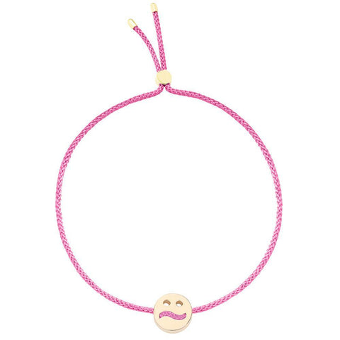 Ruifier Friends Ditzy Cord Bracelet Pink Yellow Gold