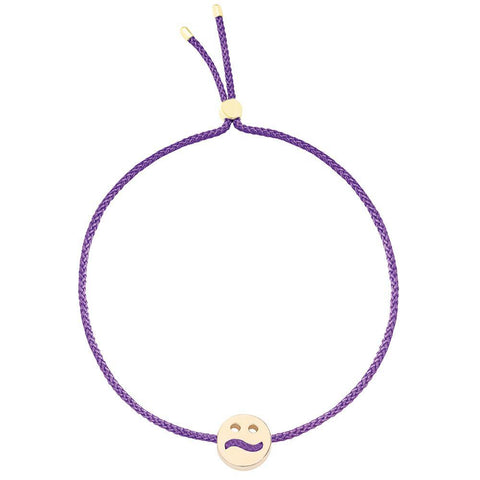 Ruifier Friends Ditzy Cord Bracelet Purple Yellow Gold