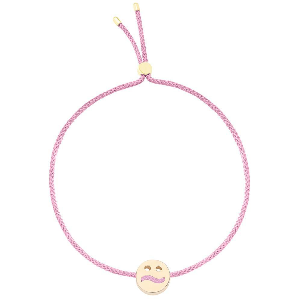 Ruifier Friends Ditzy Cord Bracelet Rose Pink Yellow Gold
