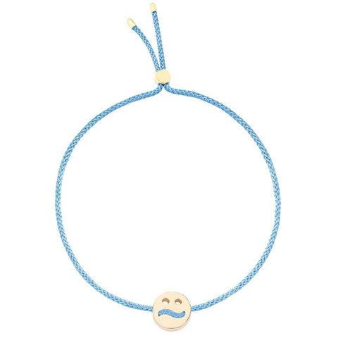 Ruifier Friends Ditzy Cord Bracelet Sky Blue Yellow Gold