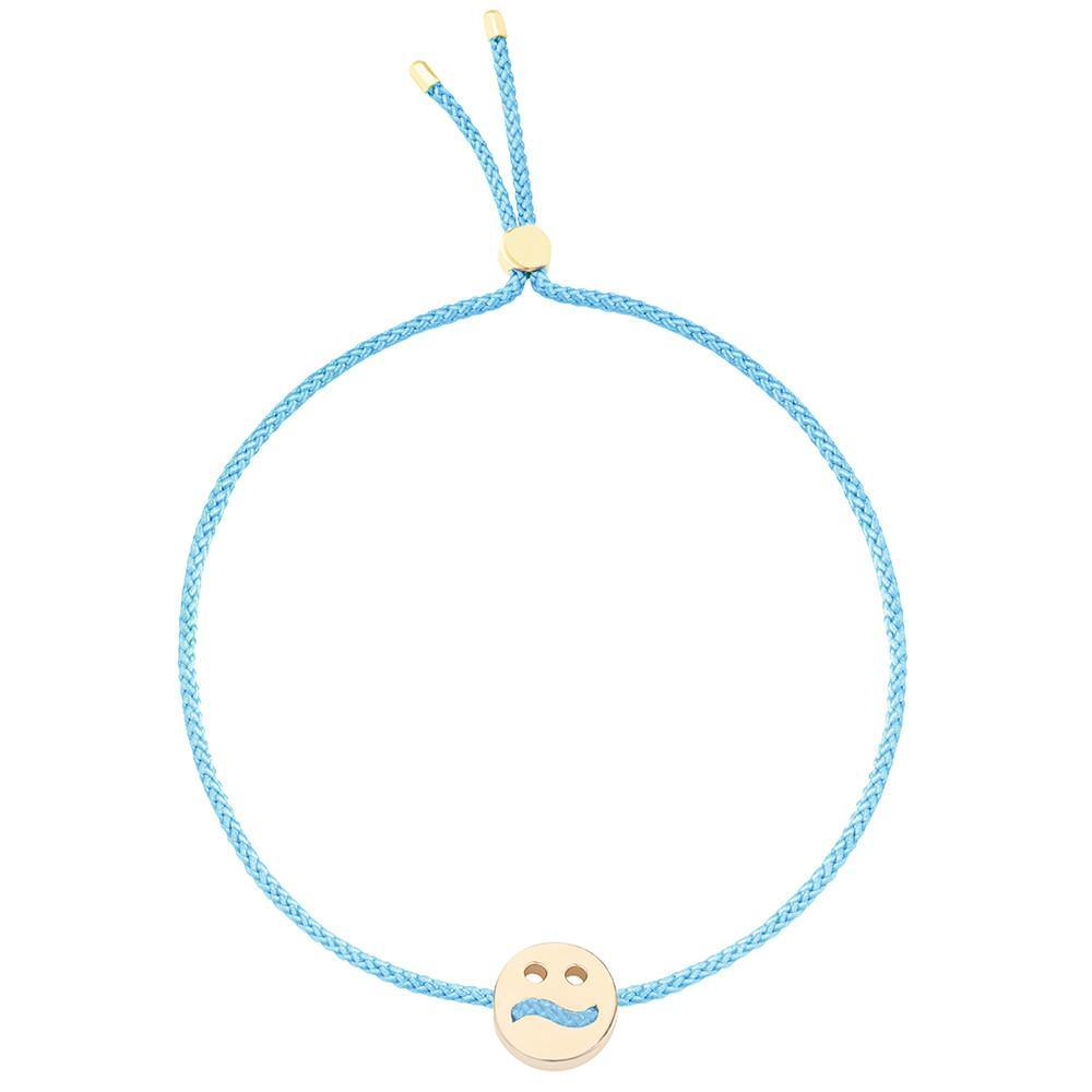 Ruifier Friends Ditzy Cord Bracelet Turquoise Yellow Gold