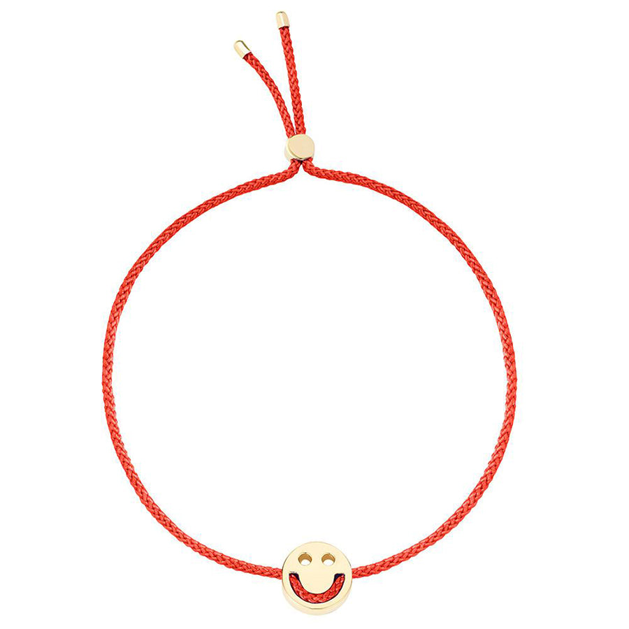 Ruifier Friends Happy Cord Bracelet Red Yellow Gold