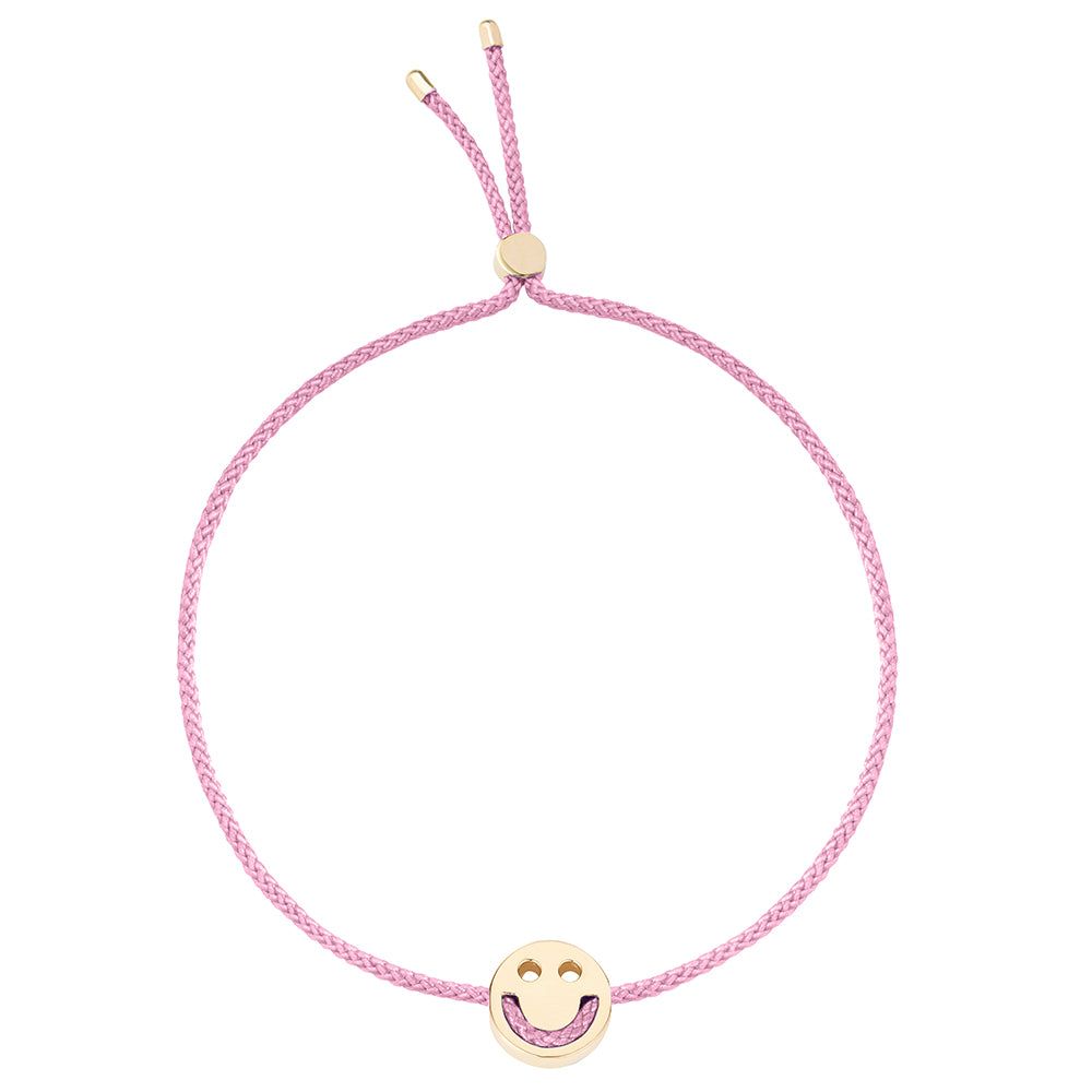 Ruifier Friends Happy Cord Bracelet Rose Pink Yellow Gold