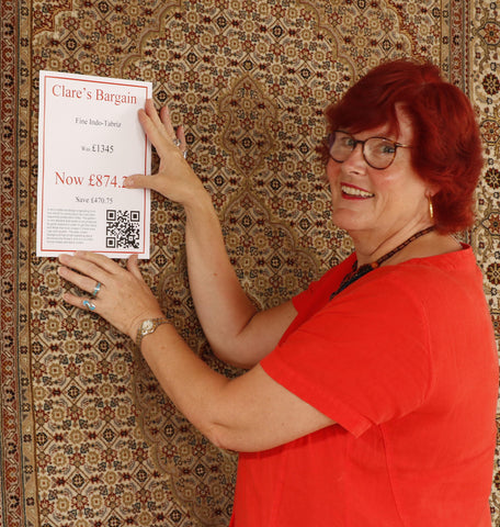 Clare's bargains discounted rugs