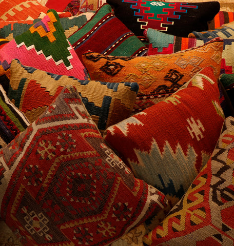 Cushions from Salvaged Kilims