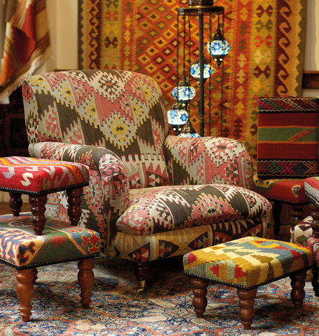 Furnishings produced from kilims