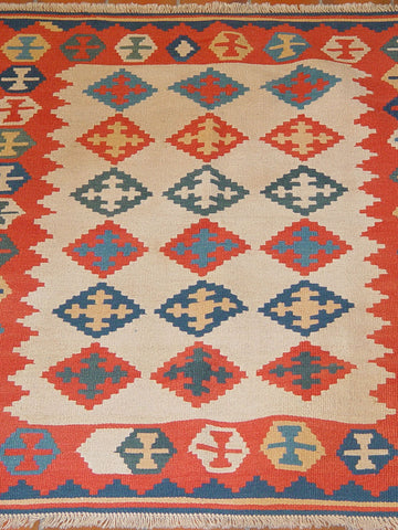Persian Qashqai kilim are useful practical pieces made from wool. It is worth being reminded that both sides of the kilim are useable.