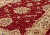 The texture of this hand knotted runner shows up well in this photograph.