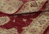 This visual aspect shows the natural texture, beautiful colours and elegant design of this Afghan runner.