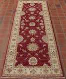 They have used quite a simple design for this traditional hand made runner