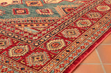A hard wearing fine Afghan Kazak ideal for family use in any room.