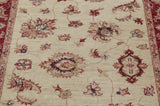 A hand knotted Ziegler runner with an arts and craft influence.