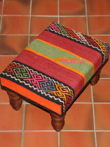 Turkish Kilim Stool - 262360