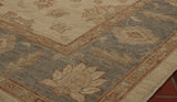The soft tones of this afghan Ziegler rug would go with most colour schemes.