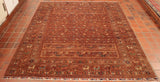 This lovely milk chocolate coloured Afghan has been made using hand spun wool.