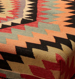 102cm long Turkish Kilim Bench on turned wooden legs