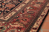 There is a range of colours that have been used in this hand made Persian rug.