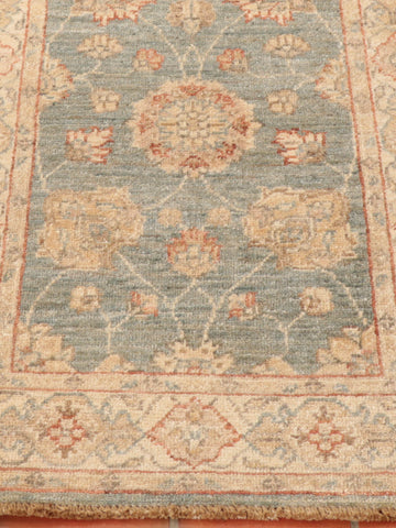 Hand made Afghan Ziegler runner in subtle colours and delicate design.