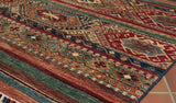 Made in the traditional way these Afghan rugs and carpets offer a more modern look.