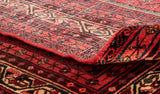 The rugs and carpets from the Hamadan region have a distinctive look to the back of them.