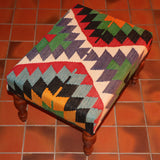 Turkish Kilim Stool - 274133