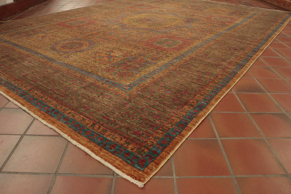 The subtle design coupled with the muted colours gives this fine Afghan rug and antique look.