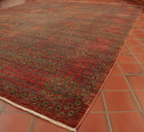At 11' x 8' approx. this Fine Afghan Mamluk carpet is perfect for a large, open space.
