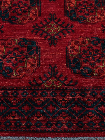Afghan Ersari carpet made in a warm and inviting traditional design
