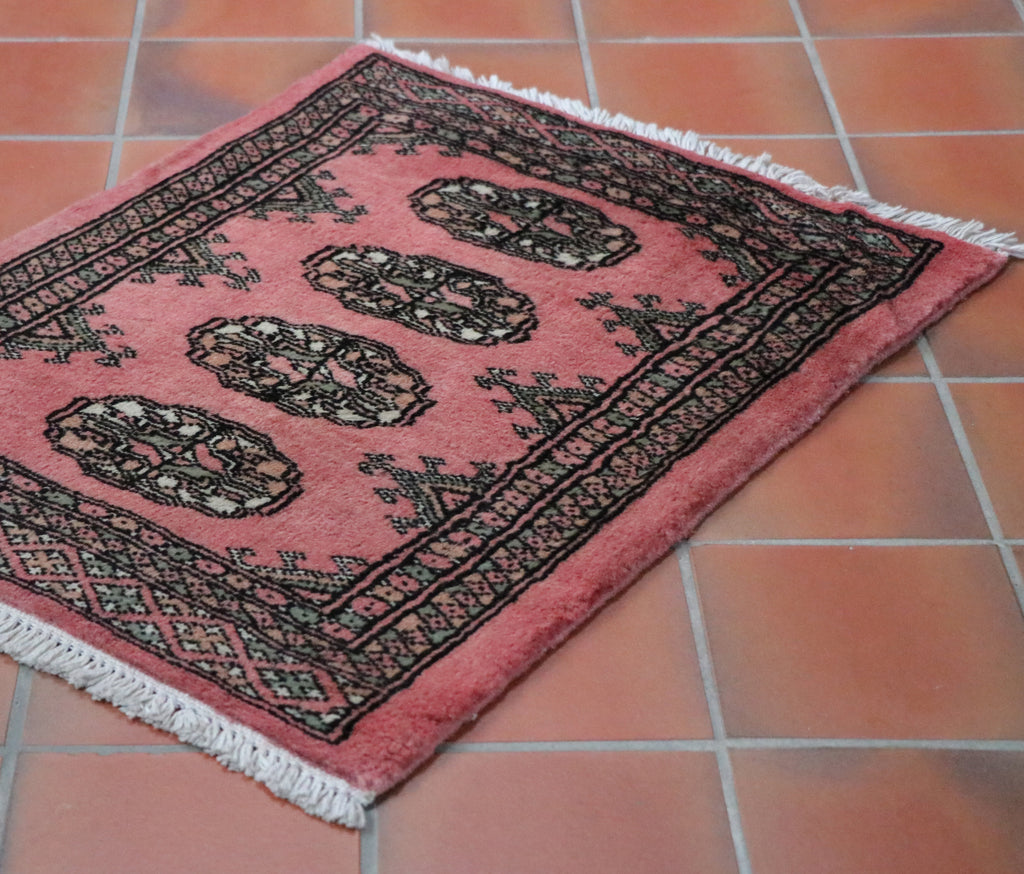 Pakistan Bokhara Rug In A Pink Colour Suitable For Any Location