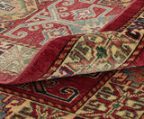The fold of this Afghan Kazak gives you an idea of the colour and texture.