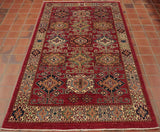 This striking fine Afghan Kazak is a longer proportion than usual.