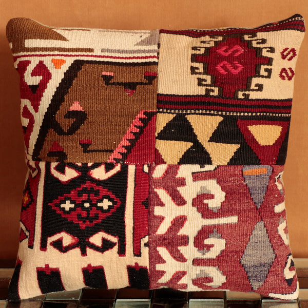 Turkish kilim cushion in an amazing multitude of colour palettes and designs - old, salvaged Kilim given a new lease of life as a wonderful cushion