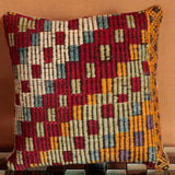 Unique and powerfully coloured Turkish Kilim cushion - possessing an intricate colour palette