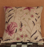 Indian Crewel and Linen cushion - 284467