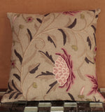Indian Crewel and Linen cushion - 284468