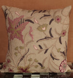 Indian Crewel and Linen cushion - 284469
