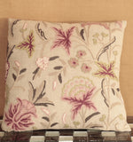 Indian Crewel and Linen cushion - 284473