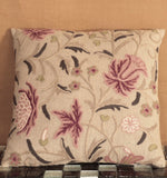 Indian Crewel and Linen cushion - 284474