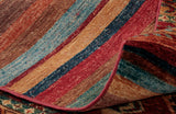 The detailed backing of such a wondrous rug is a result of the piece being handmade and finely knotted masterfully