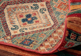 Please don't forget the back of our Oriental Afghan rug, it clearly shows the piece is hand made and such a nice quality closely knotted and well finished.