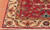 The corner of the rug shows the border details at there best.