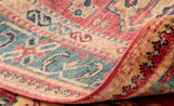 The intricacy that one can appreciate on the back of the rug, is characteristic of such a finely knotted, handmade, piece.