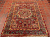 this Fine Afghan Mamluk is comprised mainly of fun, geometric shapes interlaced together