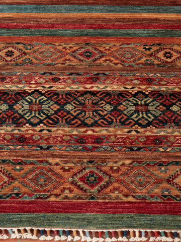 The Afghan Samarkand rugs are the most recent pieces to our collection. They capture the vibrancy and colours that are associated with the name 'Samarkand' - a region located on the Silk road between China and the Mediterranean. These rugs and carpets have been handmade to combine traditional and contemporary designs