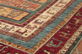 The inclusion of border designs sets this Afghan Samarkand apart.