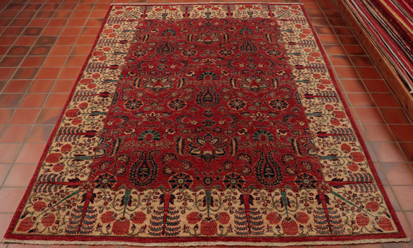 Quality Oriental carpets are more affordable than ever. Stunning colour and detailed design are very evident in this wonderful Afghan Aryana piece.