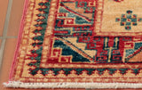 Border designs really show off the intricate Caucasian designs which influence these hand made pieces.