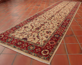 This beautifully Fine Afghan Samarkand runner is 298 x 82cm (9'9 x 2'8) in size - perfect for a wonderful hallway.